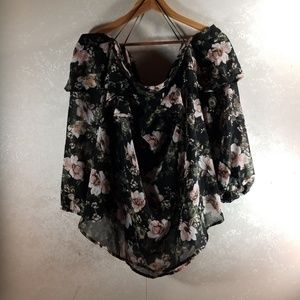 Truth floral off the shoulder top Size 2X NWOT